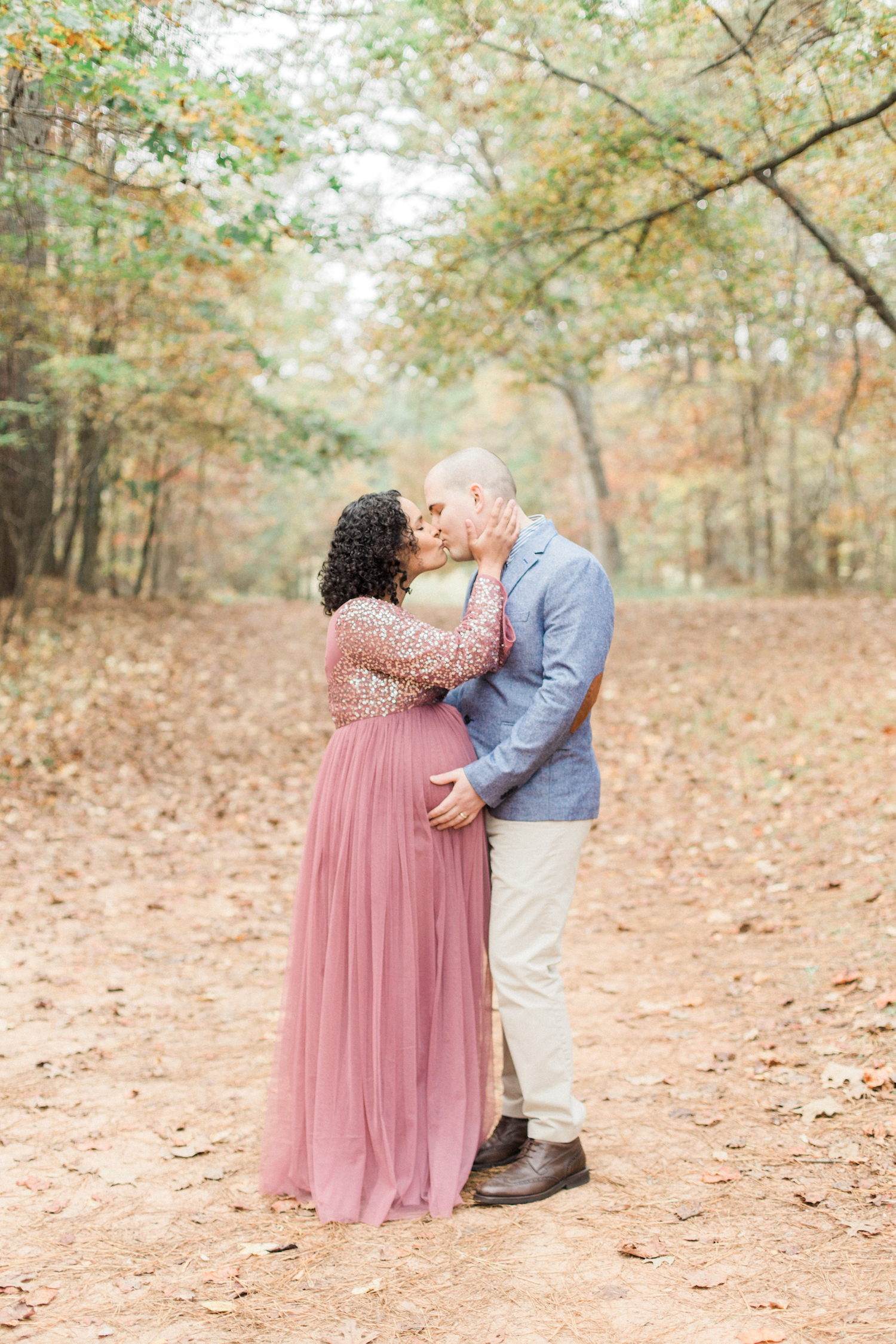 Romantic and organic fall maternity session. Atlanta Fine Art Maternity Photographer.