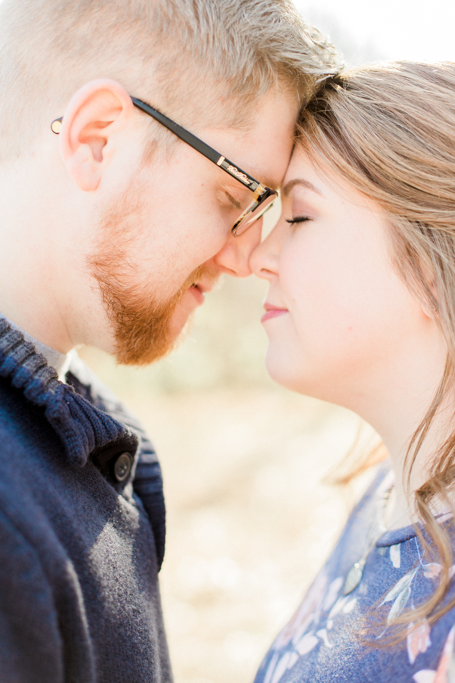 Beautiful natural-light filled winter engagement session in Marietta, Georgia. Atlanta Fine Art Engagement photographer.
