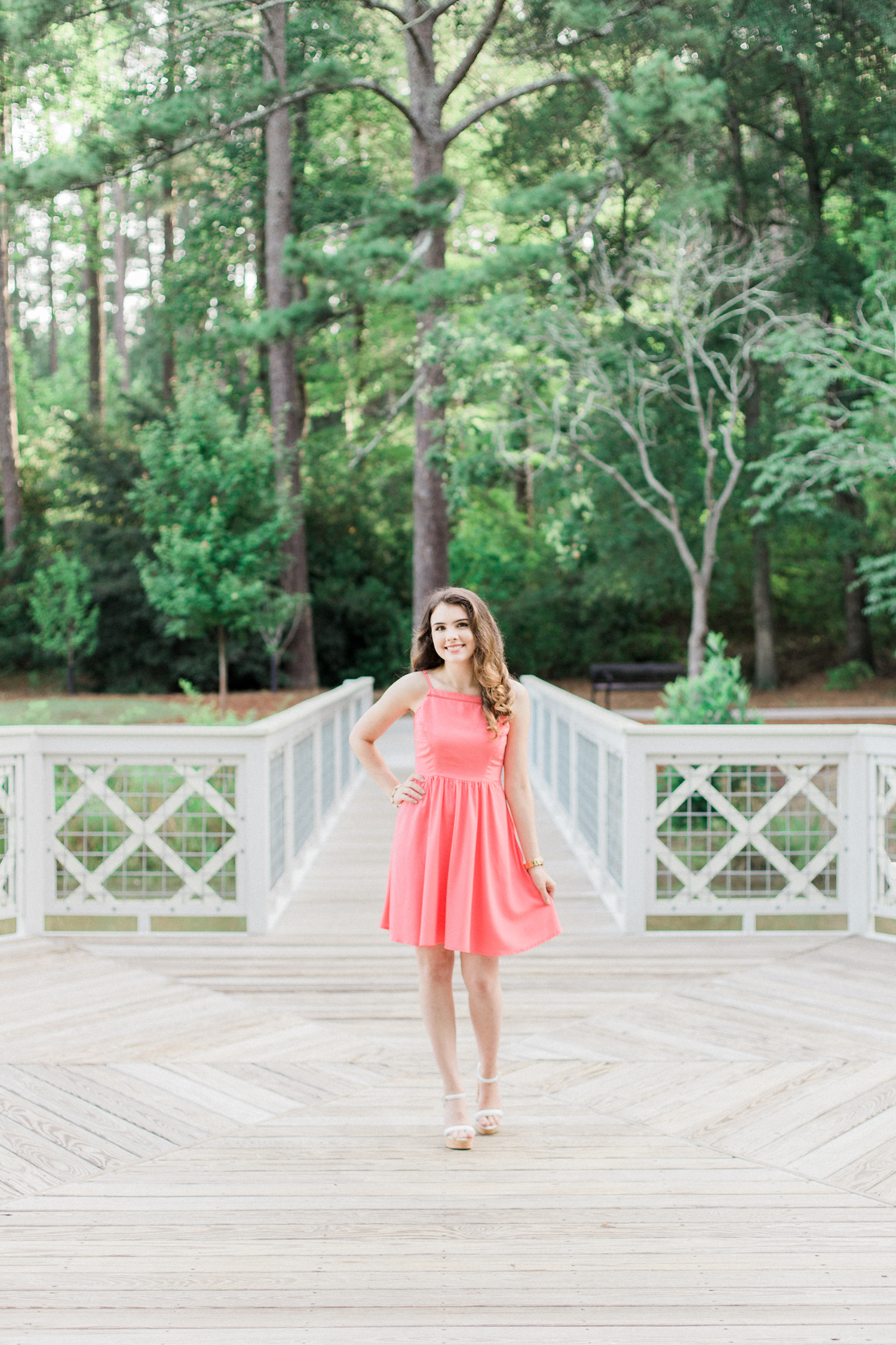 Summer time high school senior session at Vine Mansion Park by Kesia Marie Photography. Featuring feminine, garden details.